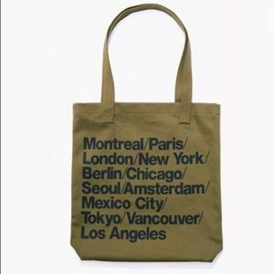 American Apparel cities city tote olive Army Green